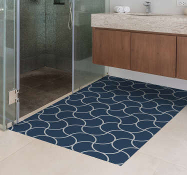 Fan of minimalist decorations? So this blue vinyl rug was made with you in mind. Surprise everyone who visits you with your good taste!