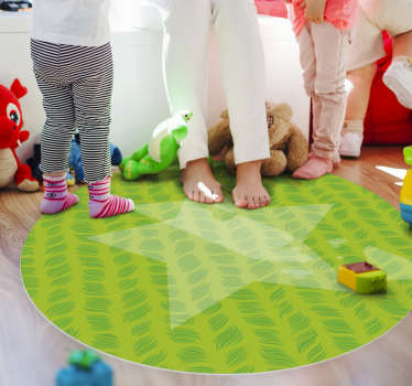 Bring color and life to your children's bedroom floor with this beautiful round children's vinyl rug and let them play on the floor safely.