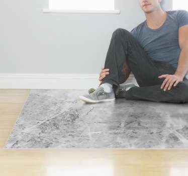 Jei ieškote nepriekaištingo jūsų minimalistinio dekoro papildymo, tada šis pilkas vinilo kilimas buvo pagamintas jums. Daugybė dydžių.