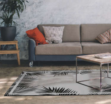 Vinyl rug fern pattern living room creates a natural and lively environment. Elegant and available in various sizes. Order and wait in your home!