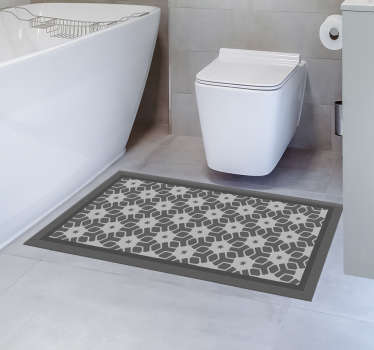 Your bathroom also deserves a unique and exclusive decoration, and this mosaic vinyl rug is perfect for decorating it. High quality!