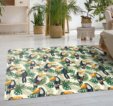 Check out this amazing new toucan vinyl rug that will bring you even closer to the rainforest! Buy now for an amazing deal!