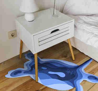 Su questo tappeto in vinile per bambini possiamo vedere una deliziosa tartaruga con la quale puoi decorare la stanza del tuo bambino con questo design colorato e originale