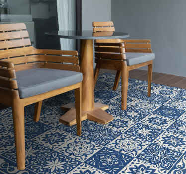 Bring beauty to your house with this fantastic moroccan tiles vinyl rug. The design will make all the difference to your home decoration