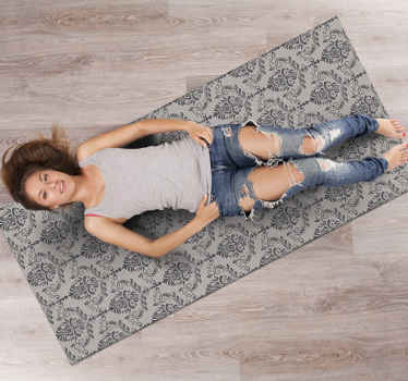 Stop for a second and take a look at this amazing rectangular modern vinyl rug! This incredible decoration item is exactly what you need