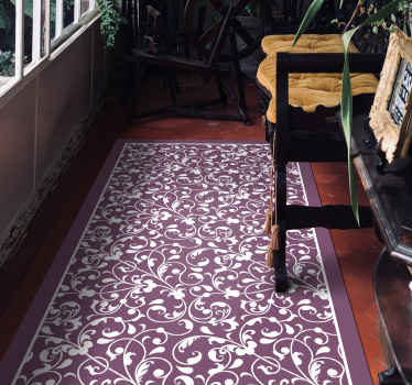 Bring an original and beautiful decoration to your home in our amazing vinyl carpet. It is of good quality and easy to maintain.