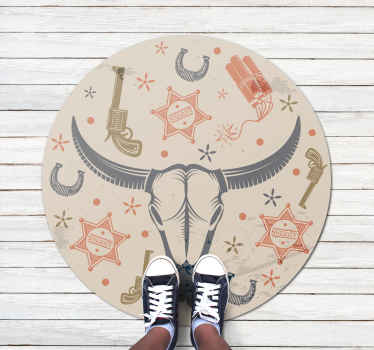 Amazing colorful vinyl rug that you can use to decorate the floor space of a kid's room.  It is made with high quality vinyl and very easy to clean.