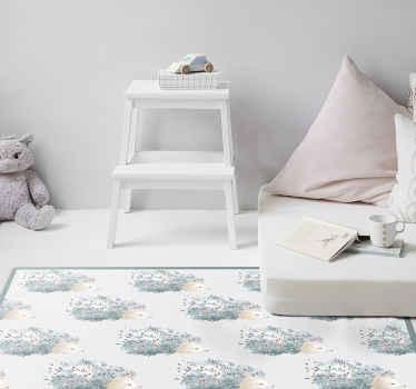 Tapis vinyle hérissons pour décorer votre intérieur. Un design incroyable pour changer le look de n'importe quel espace. Il est facile à entretenir.