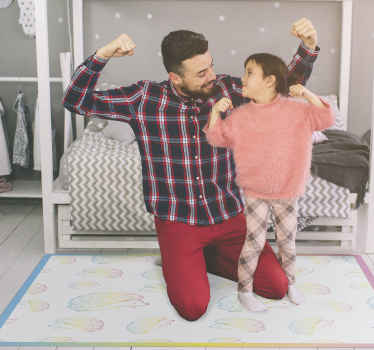 Un tapis vinyle hérisson de toutes les couleurs. Ce tapis de sol convient pour n'importe quelle pièce de la maison, que ce soit dans le salon ou la chambre à coucher. Facile à entretenir.