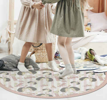 Buy our vinyl carpet that is not only decorative on your floor but illustrative for children. It is easy to maintain and made of good quality.