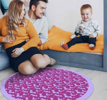 Alfombra vinílica infantil de Halloween para dormitorio infantil. Diseño con murciélagos voladores fácil de limpiar ¡Decora como te gusta!