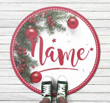 Dieser vorgestellte weihnachts-wohnzimmerteppich ist perfekt für Ihr wohnzimmer, Ihren flur und jeden Raum, den Sie wählen. Hauslieferung