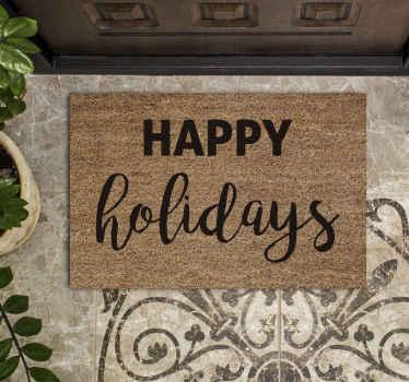 Incroyable tapis de porte joyeuses fêtes pour votre maison parfaite. Belle pièce d'élément pour mettre un pas à la porte et chaque entrée est incroyable.