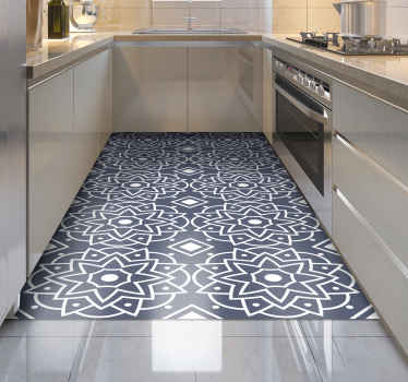 The perfect mosaic vinyl flooring for your kitchen! Made to order so you can choose the size that is best for you and your home.