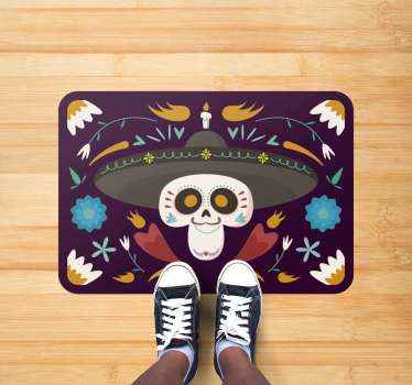 A Mexican themed rug that will look perfect in your home for this years celebrations! Day of the dead has never looked so good.