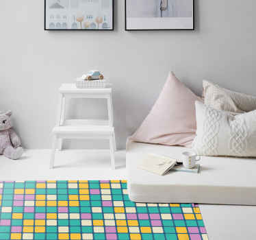 Add colour to you home with a stunning geometric vinyl rug that will look perfect in any room! Choose your size and get decorating.