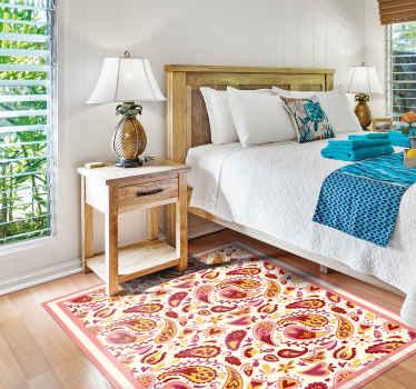 Ein wunderbarer teppich mit blumenmotiven, der den räumen ihres zuhauses so viel charakter verleiht! Einfach anzuwenden und schön anzusehen.