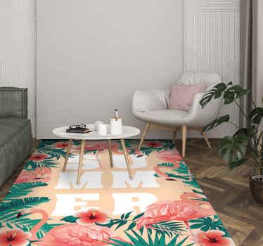あなたの床に装飾的であるだけでなく、実例でもある私たちの素晴らしい花柄のビニールランナーラグを購入してください。それは非常に耐久性があり、抗アレルギーです。
