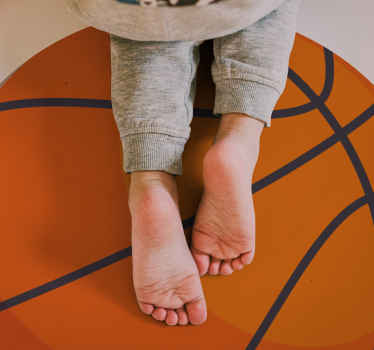 Basketball themed vinyl rug to make any room look 100x cooler. Discounts available when you sign up on our website today.