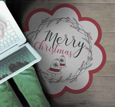 Beautiful merry christmas rug, perfect to decorate your living room during christmas time. It will also look beautiful in other spaces