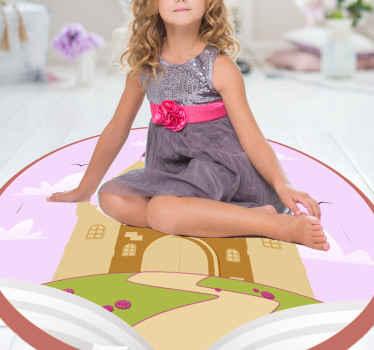Linnan vinyyli matto, täydellinen lapsesi huoneen sisustamiseen. valmistettu korkealaatuisesti kestävästä vinyylistä, helppo varastoida ja puhdistaa. Tarkista se!