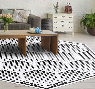 Improve your home space without having to spend a lot of money with our high quality geometric shape vinyl carpet. It is original and easy to clean.
