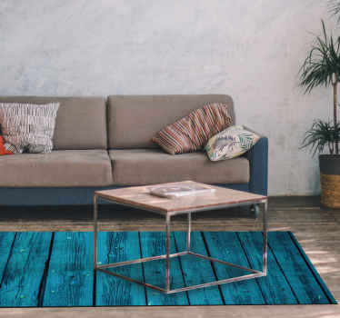 Pavimento in legno blu fuori dagli schemi che starà benissimo nella tua casa! Facile da applicare e sorprendente da vedere, cosa si può volere di più?