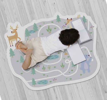 A city road vinyl rug, perfect for you home and great to entertain your children! This sticker is the one for you and your family.