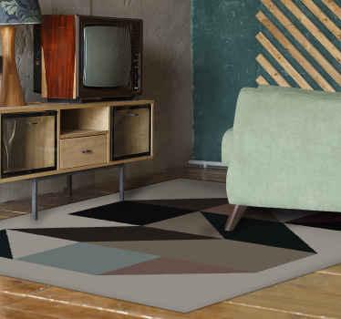 Admire la belleza única de esta alfombra vinílica salóncon colores y formas geométricas para decorar tu casa. Elige medidas ¡Compra online!