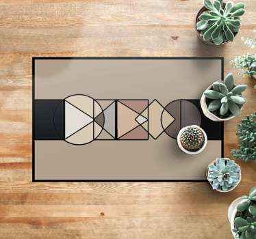 This nice vinyl carpet geometric shapes circles and triangles is just nice for your doorstep! Buy it now and feel this feeling.
