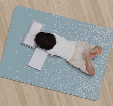 Decora ogni stanza della tua casa con lo stravagante tappeto in vinile con motivo a pois blu. Questo tappeto in vinile è perfetto per te.