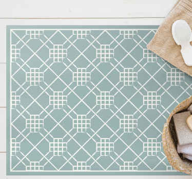 vinyl tile kitchen mat to decorate the floor of your kitchen and give it an exclusive yet original style. It is anti-slip and durable.