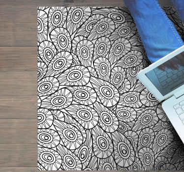 リビングルームのスペースを素晴らしいスタイルで飾るための素晴らしいデザイン。滑り止めでお手入れも簡単です。