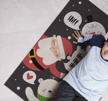 What a better way of spending Christmas than making your kids happy with this Christmas characters vinyl rug to decorate their rooms.