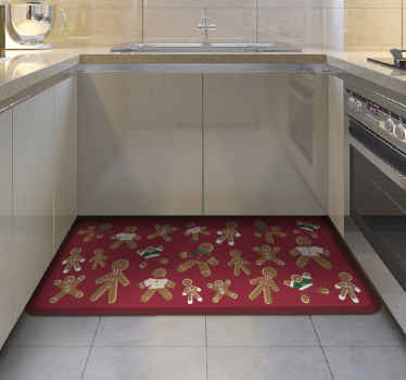 A collection of gingerbread cookie vinyl rug for Christmas to decorate your house on this beautiful holidays. Especially if you want to redecorate.