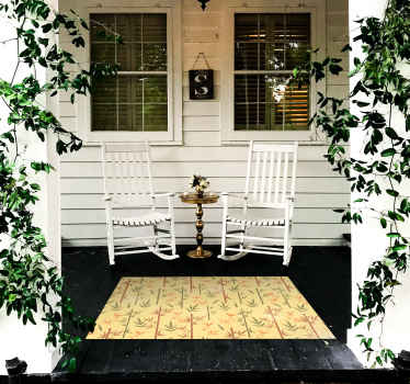 这款宏伟的防滑乙烯基地毯以新鲜的竹子图案为特色。它防滑且非常持久。立即将其添加到购物车!