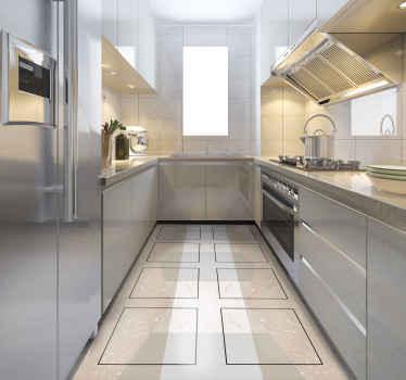 Le tapis en sticker avec des carreaux de marbre est une excellente solution pour votre cuisine. En sticker de haute qualité, facile à ranger et à maigre. Vérifiez-le!