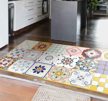 Nevjerojatni različiti dizajn pločica u stilu vinil tepiha koji vašoj kuhinji daju originalan i zapanjujući izgled. Nadahnut na marokanskim pločicama.