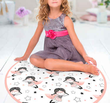 Vinyl rug with super girl, perfect asa decoration for a girl's room. Easy to clean and store, made of a quality vinyl. Discounts available.