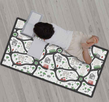 Vinyl rug map of a city, perfect to decorate your kids room. Easy to apply and store. Made of high quality vinyl. Check it out!