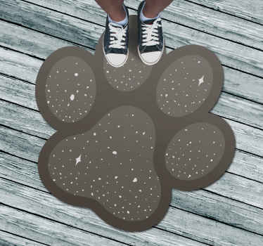 special dog's foot fancy living room rug, animal sticker. It is presented with the designs of the original painting, perfect for decorating your home