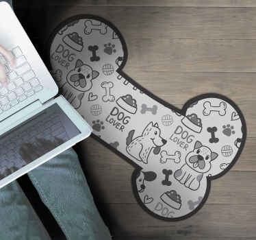 Vinyl rug with dogs, perfect if you want to brighten up your bedrrom. Easy to clean and store. Made of high quality vinyl.