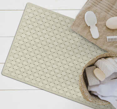 Stop even en kijk goed naar deze geweldige bamboe vinyl tapijt! Dit elegante ontwerp is gemakkelijk schoon te maken.