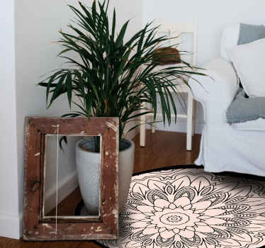 Krásny a pekný kruhový koberec s vizuálnym efektom je dokonalým riešením pre kuchyňu, pretože je taký praktický. Kúp si to hneď.