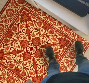 Si vous cherchez quelque chose pour apporter une touche vintage à votre espace, ce tapis vintage à motifs old school rouge serait une excellente idée.