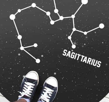 Tapis en sticker super signe du zodiaque sagittaire parfait à mettre dans un salon de votre maison. Si vous cherchez une jolie décoration pour votre maison.