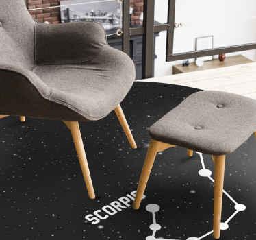 Joli et super tapis en sticker signe du zodiaque scorpion parfait à mettre dans un salon de votre maison. Si vous cherchez une jolie décoration pour votre maison.