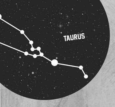 Wonderful zodiac sign Taurus  vinyl carpet perfect to put in a salon in your house. If you are looking for a cute decoration for your home.