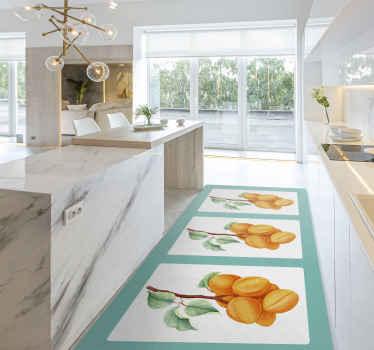 Decora cualquier estancia de tu hogar con esta alfombra vinilo vintage con motivos florales de albaricoque ¡Descuentos disponibles!