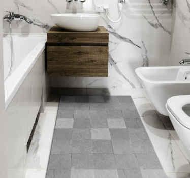 Fantastique tapis en sticker super motifs de carreaux noirs et blancs, qui peuvent être montés à peu de frais dans des stickers pour votre salon.